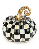MacKenzie-Childs Beaded Check Medium Pumpkin