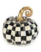 MacKenzie-Childs Beaded Check Medium Pumpkin