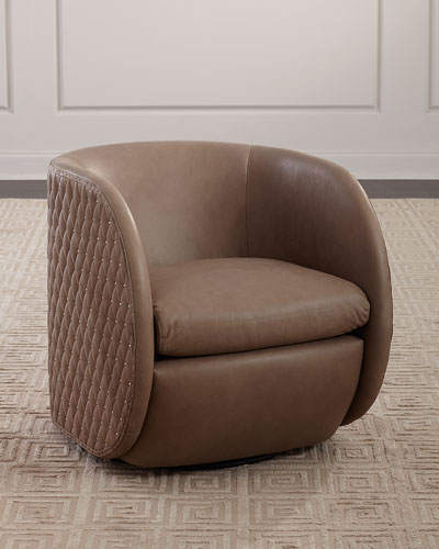 Lillian Leather Swivel Chair