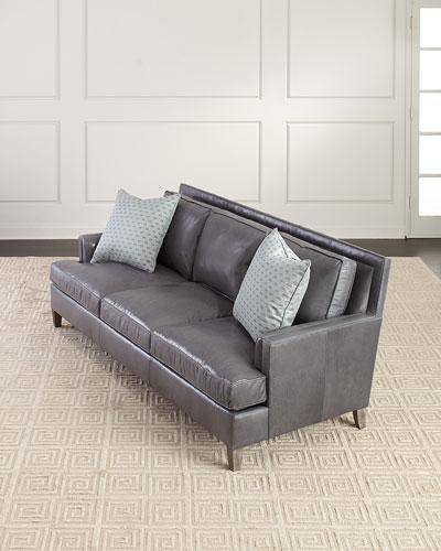 Addison Leather Sofa, 92