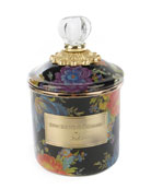 MacKenzie-Childs Flower Market Black Demi Canister