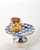 MacKenzie-Childs Royal Check Pedestal Mini Platter and Matching