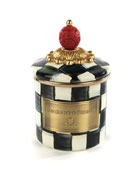 MacKenzie-Childs Courtly Check Mini Enamel Canister and Matching