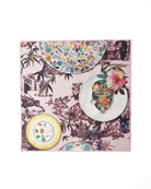 Christian Lacroix Folie Rose Pink Dinner Napkins, Set