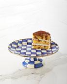 MacKenzie-Childs Royal Check Pedestal Large Platter