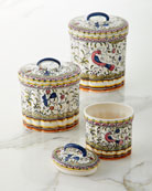 Keramos Nazari Pavoes Canisters, Set of 3