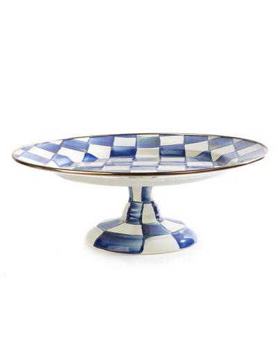 Royal Check Pedestal Platter