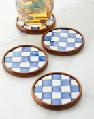 MacKenzie-Childs Royal Check Coasters, Set Of 4