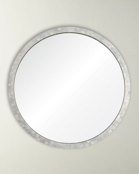 Mirror Image Home Round Mother of Pearl Mirror