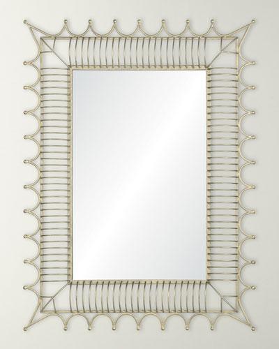 Antiqued Iron Silver Mirror