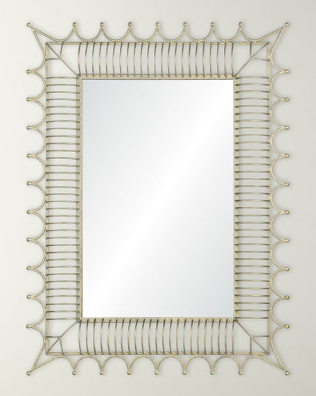 Mirror Image Antiqued Iron Silver Mirror