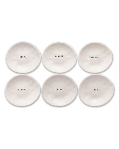 Classic Eating Dishes, Set of 6