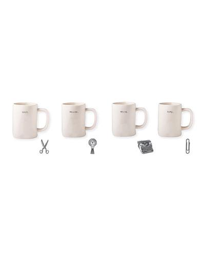 Classic Office Mugs, Set of 4