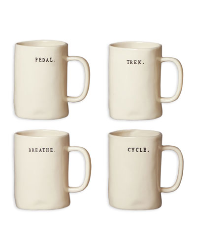 Classic Bike Mugs, Set of 4