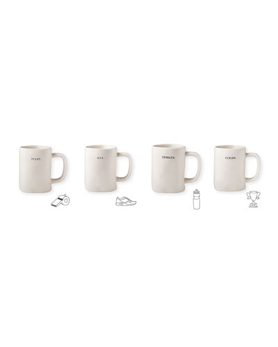 Classic Running Mugs, Set of 4