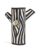 HAY Large Zebra-Print Tree Trunk Vase