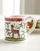Keramos Nazari Christmas Pavoes Mugs, Set of 4