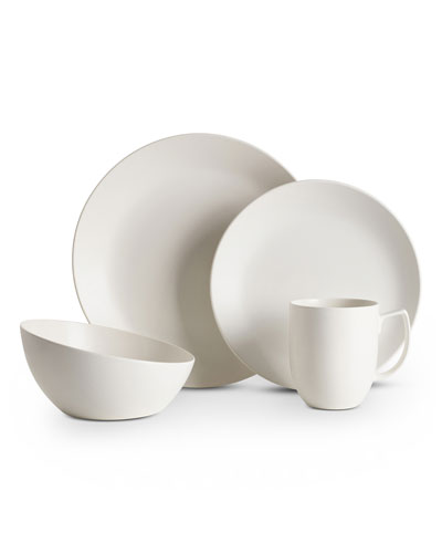 4-Piece Place Setting, Starry White