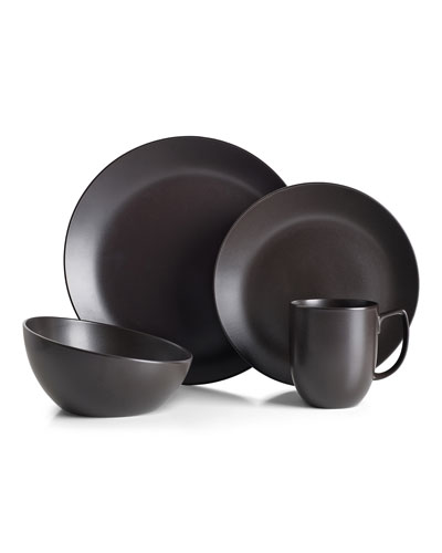 4-Piece Place Setting, Celestial Black