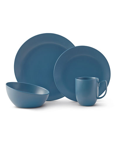 4-Piece Place Setting, Aurora Blue