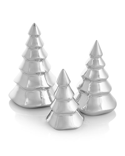 Mini Christmas Tree Figurine Trio