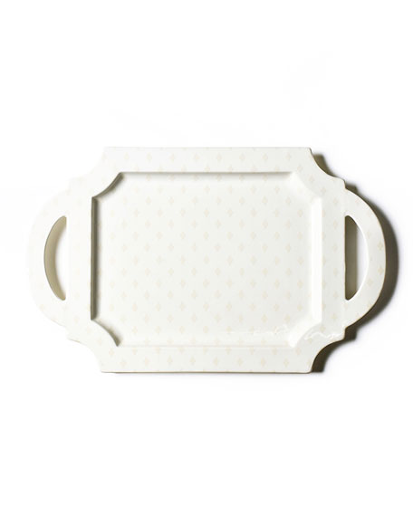 Coton Colors Quatrefoil Handled Traditional Tray