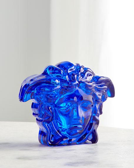Versace Blue Medusa Paperweight