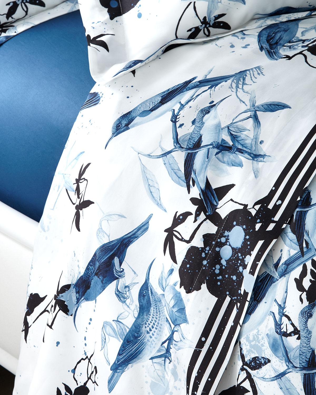 Roberto Cavalli Clothing BIRDS RAMAGE QUEEN FLAT SHEET
