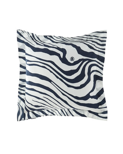 Frame Zebrage Euro Shams, Set of 2