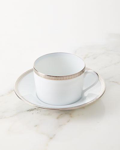 Symphony Platinum Tea Cup & Saucer Set