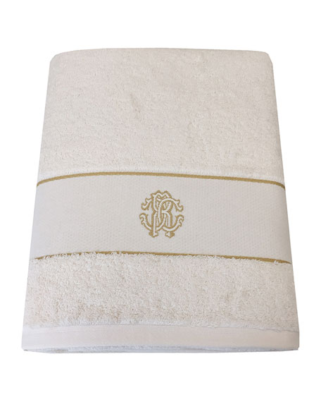 Roberto Cavalli Gold New Italian Bath Sheet