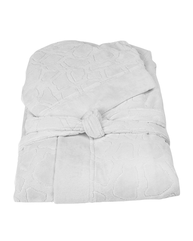 Roberto Cavalli Bath robes JERAPAH ITALIAN HOODED BATHROBE - SIZE XXL, WHITE