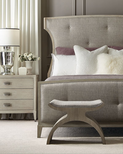 East Hampton Button Tufted Queen Bed
