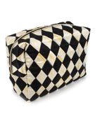 MacKenzie-Childs Harlequin Large Cosmetic Bag