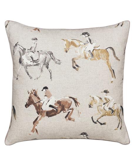Eastern Accents Jockey Equestrian Decorative Pillow