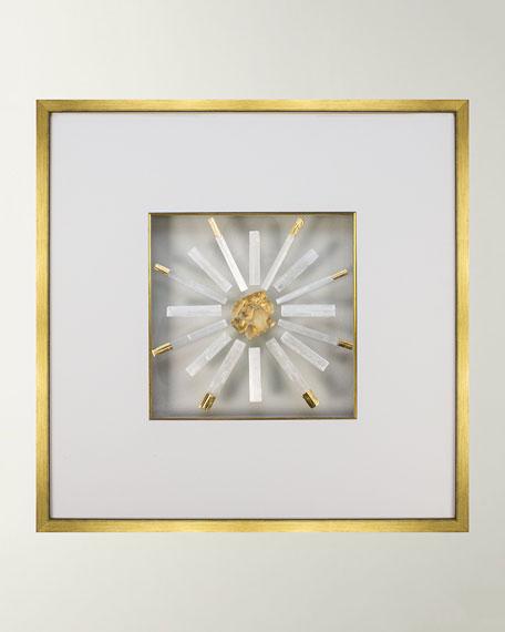 WJC Design Sophie Selenite Crystal & Gold Leaf Wall Art