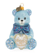 Jay Strongwater Baby's First Christmas Ornament, Blue