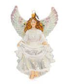 Jay Strongwater Peace On Earth Angel Glass Christmas