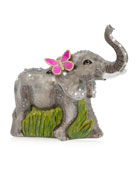 Jay Strongwater Elephant Glass Ornament