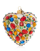 Jay Strongwater Bejeweled Heart Christmas Ornament