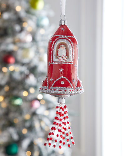 Rocket Jeweled Ornament