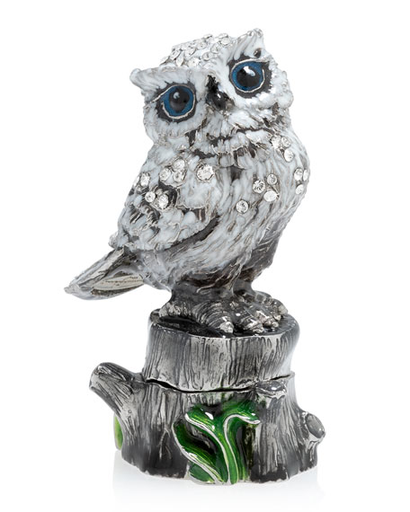 Jay Strongwater Snow Owl Box