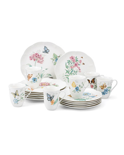 Butterfly Meadow 18-Piece Dinnerware Set