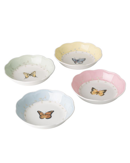 Lenox Butterfly Meadow Dessert Fruit Dishes, Set of 4
