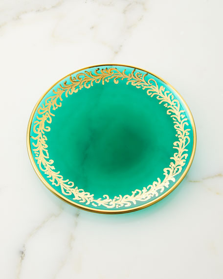 Neiman Marcus Hand Painted Holiday Bread Plates, Set of 4