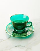 Neiman Marcus Teacups with Large Saucers, Set of