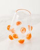 Massimo Lunardon Bubble Wine Glass, Orange