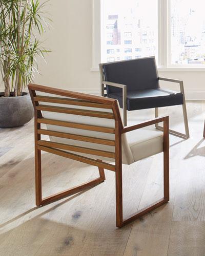 Ladder Slant Arm Chair, Left