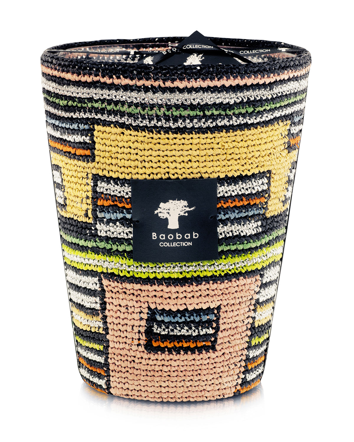 Baobab Collection MAX 24 MODERNISTA RAFFIA MIZO CANDLE