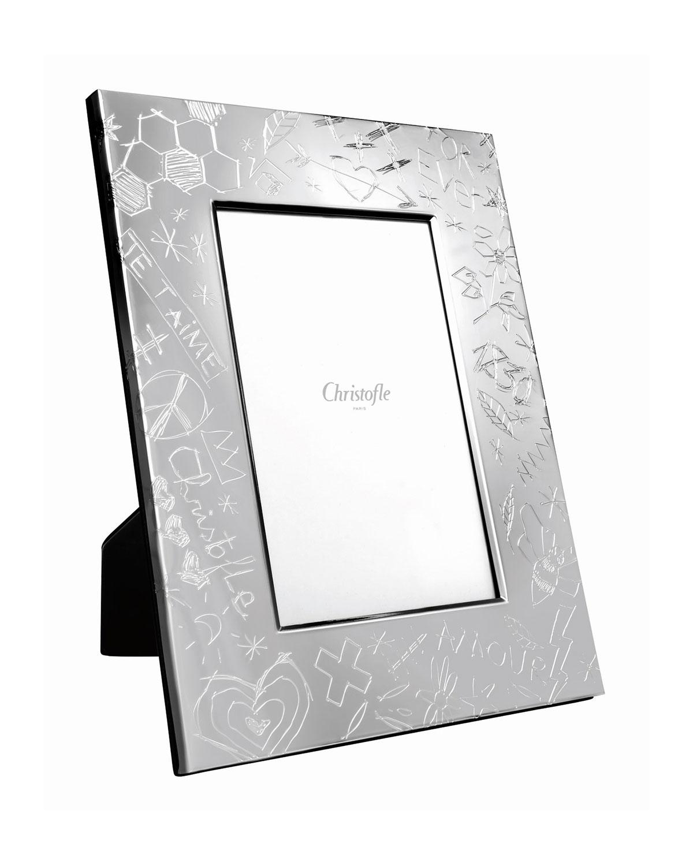 "Christofle Picture frames GRAFFITI PICTURE FRAME, 4"" X 6"""